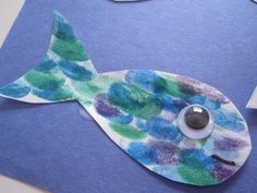 finger print fish: Using an Ink pad the children can create a pattern on their fish of printing rather than painting or coloring. While also practicing cutting out their fishes and gluing on their googly eyes.