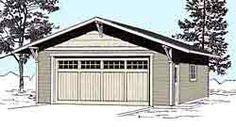 Craftsman Style 2 Car Garage Plan No. by Behm Design 14 ft tall 2 Car Garage Plans, Garage Plans With Loft, Garage Ideas, Cupboard Doors Makeover, Door Makeover, Single Garage Door, Garage Doors, Barn Garage, Garage Shop