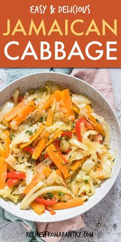 Jamaican Cabbage is a gluten free side dish that goes with most everything. Super quick and easy to prepare with just 6 simple ingredients,. Jamaican Cuisine, Jamaican Dishes, Jamaican Recipes, Jamaican Appetizers, Jamaican Steamed Cabbage Recipe, Jamaican Cabbage, Jamaican Callaloo Recipe, Steamed Veggies Recipe, Rice And Peas Jamaican