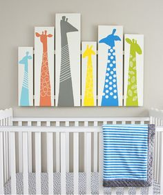 Brighten up your baby's room with homemade giraffe wall art.
