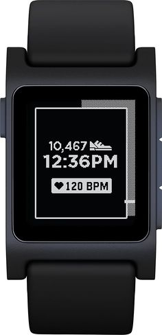 f5ce34aae750 Pebble 2 Heart Rate Smart Watch - Black Black     You can find