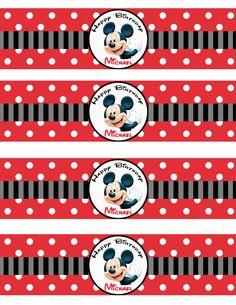 Mickey Bottle Label
