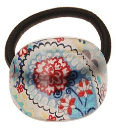 France Luxe Oval Ponytail Holder  Paisley Punch Celeb Blue ** Click image for more details.(This is an Amazon affiliate link and I receive a commission for the sales)