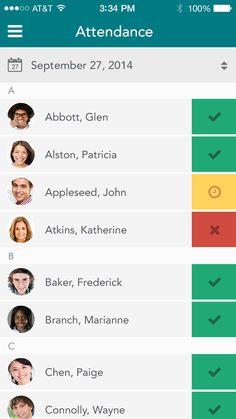 9 best attendance app images ui design attendance app interface