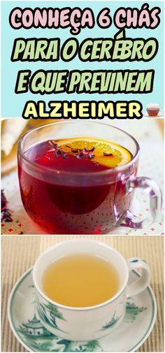 Saiba quais são alguns dos chás mais benéficos para as funções cerebrais. #chá #cerebro #saude #tratamento #cuidado #doença #memória #dicas #receitas #caseiro #natural