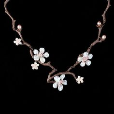 *********************Cherry Blossom Necklace Twigs Michael Michaud Jewelry | eBay