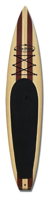 Wood Stand Up Paddleboard Raceboard by Three Brothers Boards
