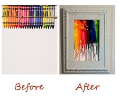 Looking to create some colorful art for your home? Check this out! Instead of a heat gun, you can use our Arrow TR550 or TR400DT glue gun to create these beautiful pieces of art with some crayons. www.arrrowfastener.com
