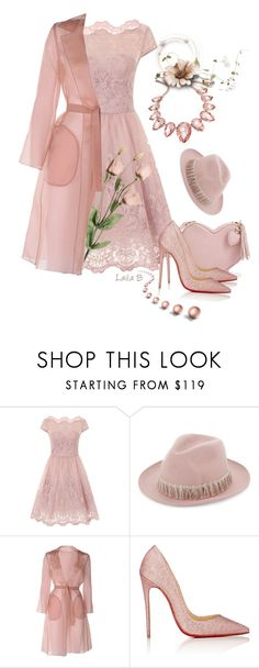 """""""Pic One Dress Contest!"""" by laila-bergan ❤ liked on Polyvore featuring Chi Chi, Super Duper, MaxMara, Christian Louboutin, Thalia Sodi, contest, outfit and Pink"""