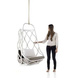 Cage Like Suspended Seating   The Nautica Hanging Chair Pays Homage To  Expormim Designs (