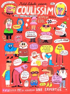 """Coulissimo ©Delphine Durand (""""illustrissimo a 20 ans"""" - Editions M. Monster Illustration, Art Et Illustration, Character Illustration, Sketchbook Inspiration, Expo, Flyer, Love Drawings, Illustrations And Posters, Branding"""