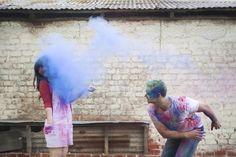 Such a fun & unique idea! Colourful Holi Powder E Shoot by C J Williams Photography