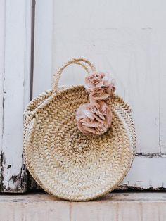 {Woven circle bag.}