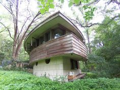 The Spring House in Tallahassee, FL was designed by Frank Lloyd Wright in 1952 (and built in 1954) for George Lewis, President of the Lewis State Bank, and Clifton Lewis. It is the only designed and built residence in Florida by Frank Lloyd Wright and is on the National Register of Historic Places. The Lewis family occupied the house until 2010. The Spring House Institute has been established to restore and finish this historical residence.