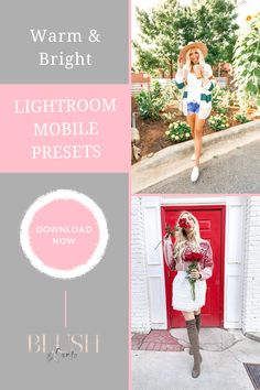 These lightroom mobile presets let you transform your photography for your fashion blog into warm and bright photos with the click of a button! #fashionblog #fashionblogger #fashionstyle #fashionphotography