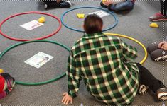 Today, thanks to my PE Department, we worked with the Zones of Regulation and hula hoops. Fun was had by all! The dean of students even stopped by and we had to have him stand in the yellow zone becau