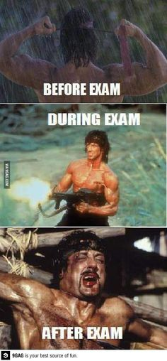 How I feel during IB Exams...