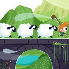 #scotland #highlands #boy #kid #shepherd #sheep #mountains #illustration #illustrationart #art #digitalart #childrensbooks Cute Illustration, Sheep, Pikachu, Digital Art, Highlands, My Arts, Family Guy, Books, Kids