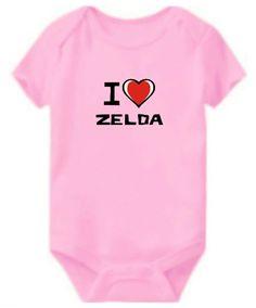 Baby Bodysuit I Love Zelda
