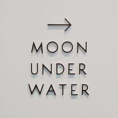 Moon under water Gfx Design, Logo Design, Signage Design, Type Design, Branding Design, Environmental Graphics, Environmental Design, Modern Typography, Typography Letters