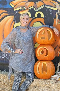 Alison Sweeney visits the pumpkin patch for a cause