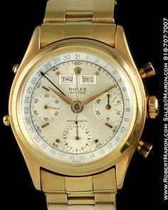 ROLEX 6036 VINTAGE CHRONOGRAPH 18K PINK GOLD :: All Watches ::...