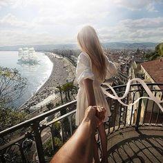 Vista sobre Nice no sul de França