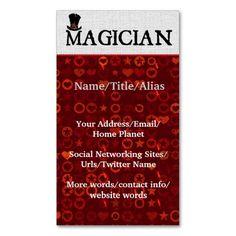 227 best magician business cards images in 2019 business. Black Bedroom Furniture Sets. Home Design Ideas