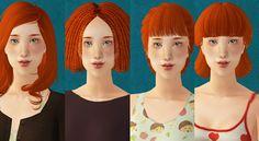 selenaq13:   Four Remi'd hairs @ LJ / sims cc finds