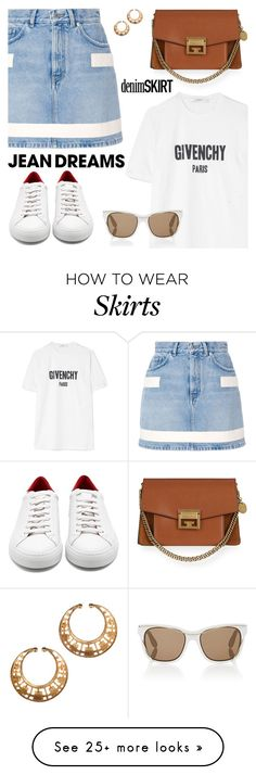 """Jean dreams: denim skirts"" by jan31 on Polyvore featuring Givenchy"