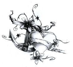 Heart and Anchor tattoo design by Thatguy101 I don't need another anchor but I love this design!