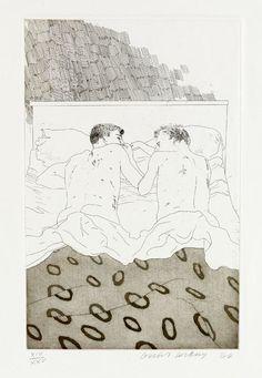 David Hockney, Two Boys Aged 23 or 24, 1966