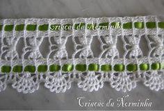 Ponto Preso1: Croche : Barrados de Borboletinhas