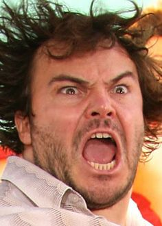 No, it's not a mis-categorized pin. It's Jack Black--musical and comic GENIUS. Funny Faces Pictures, Make Funny Faces, Silly Faces, Jack Black, Celebrity Funny Faces, Celebrity Pictures, Santa Monica, Tenacious D, Actor