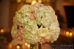 bouquet idea-break up hydrangeas-roses, small daisies or ranunculus.