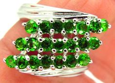 DIOPSIDE  SILVER RING   27.2CTS  SIZE- 8.25   RJ-658 gemstone ring, rdiopside ring  ,gold gemstone ring ,