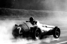 Juan Manuel Fangio at the 1957 Gran Premio d'Italia with the Maserati He finished second behind Stirling Moss' Vanwall. Italian Grand Prix, September 8, Framed Prints, Canvas Prints, Vintage Race Car, Car And Driver, Formula One, Courses, Race Cars