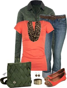 """A pop of Coral"" by tdfediuk on Polyvore"