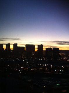 Nighttime Vegas Skyline