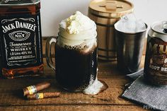 1 can root beer, 2 cold shots or more of Jack Daniel's, 1 big scoop of vanilla ice cream