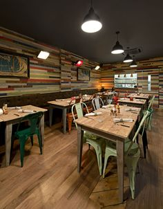 www.stainlesssteeltile.com likes the idea! The Rum Kitchen, Notting Hill | We Heart; Lifestyle & Design Magazine