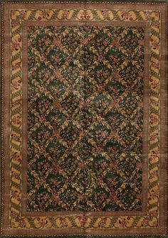 One of a Kind - 83267 Rajastan Collection 6003f - Samad - Hand Made Carpets Green Rugs, Home Rugs, Upcoming Events, Persian Rug, Green And Gold, Carpets, Collection, Decor, Persian Carpet