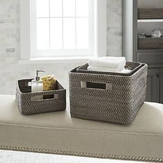 Baskets: Wicker, Wire, Woven and Rattan | Crate and Barrel