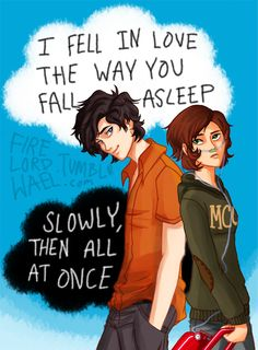 """John Green - The Fault in Our Stars - TFIOS Hazel Grace Lancaster and Augustus 'Gus' Waters """"I fell in love the way you fall asleep, slowly and then all at once"""" Augustus Waters, Hazel Y Augustus, The Fault In Our Stars, Larry, Hazel Grace Lancaster, Good Books, My Books, I Fall In Love, My Love"""