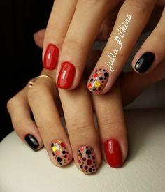 Идеи дизайна ногтей - фото,видео,уроки,маникюр! | VK Pop Art Nails, Nail Pops, Short Nails Art, Heart Nail Designs, French Nail Designs, Confetti Nails, Funky Nails, Pretty Nail Art, Super Nails