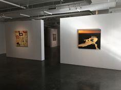 "HALLECKSON | MULEN (l-r) Alfred Harris ""Magic Bus"", Lisa Grossman ""Kaw Catching Light"""