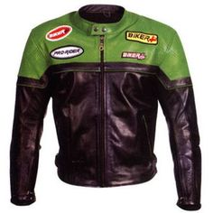 Kawasaki Ninja Theme Motorcycle Leather Jacket
