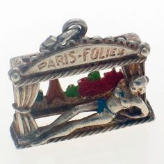 Vintage French Silver Folies Bergere Charm