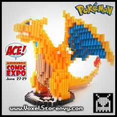 This is a Large Detailed Charizard (Nintendo, Pokemon) I made in the cool new 3d perlerbead art style!   Charizard stands 6 inches tall and over 8 inches long, and has a detailed flame on his tail.  Products are made to order and do take about a week to make depending on the order.  Please ...