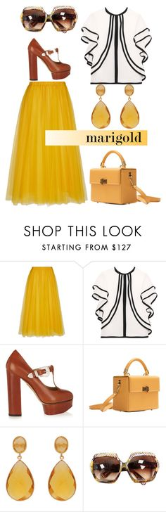 """Orange juice"" by blueyed ❤ liked on Polyvore featuring Rochas, Elie Saab, Charlotte Olympia, Hédara and Carousel Jewels"